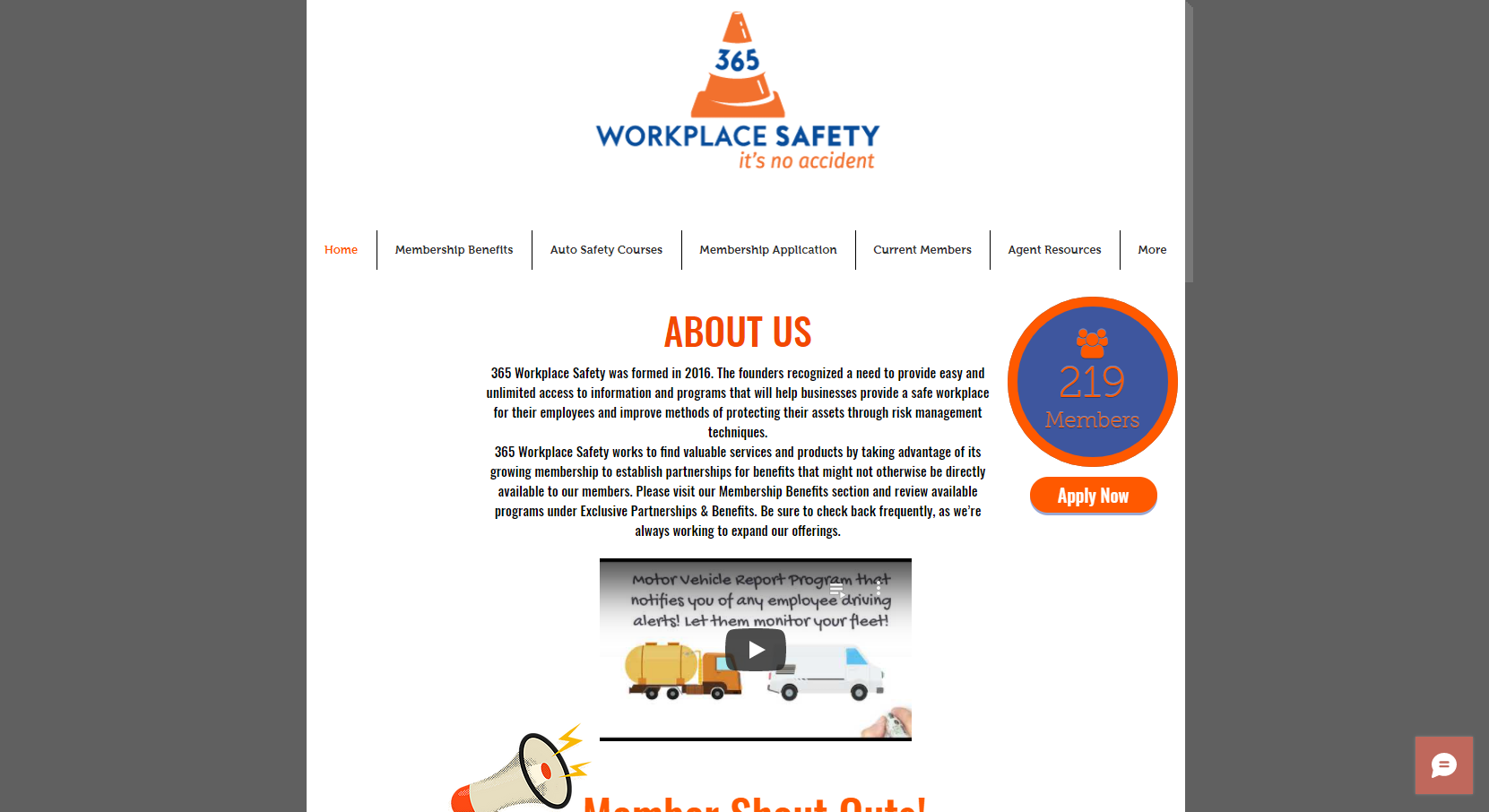 365 Workplace Safety - Dallas Website Client