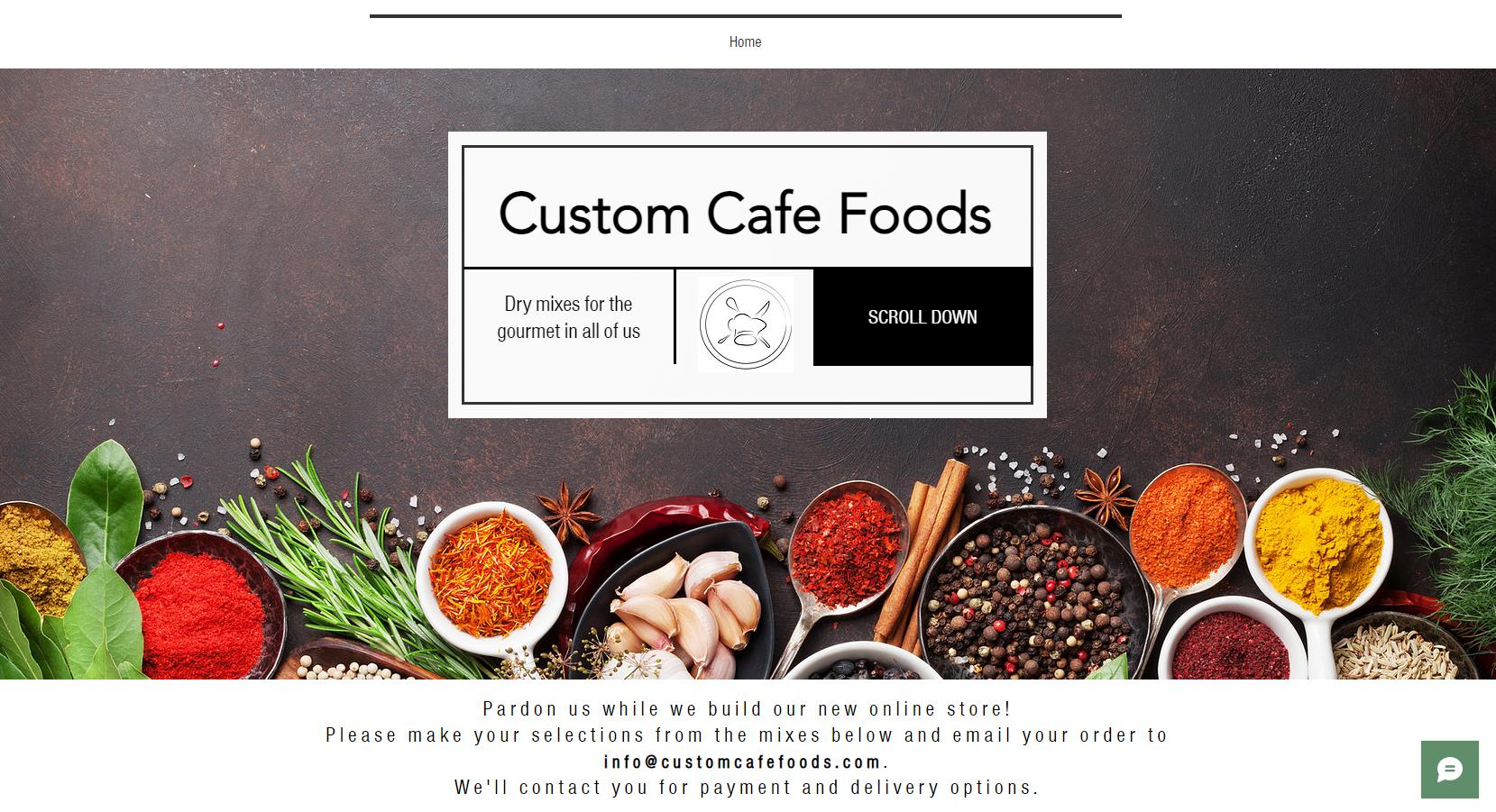 Custom Cafe Foods - Richardson Website Client